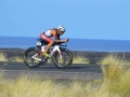 tackling the 112-mile bike course